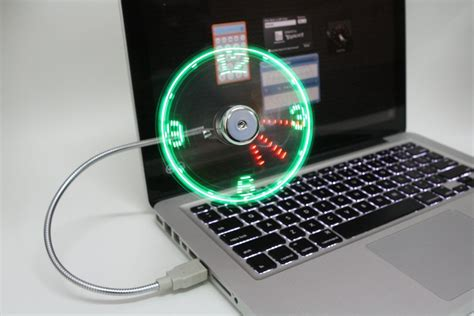 Usb Clock Fan propeller clock is the coolest gizmo you can make or buy