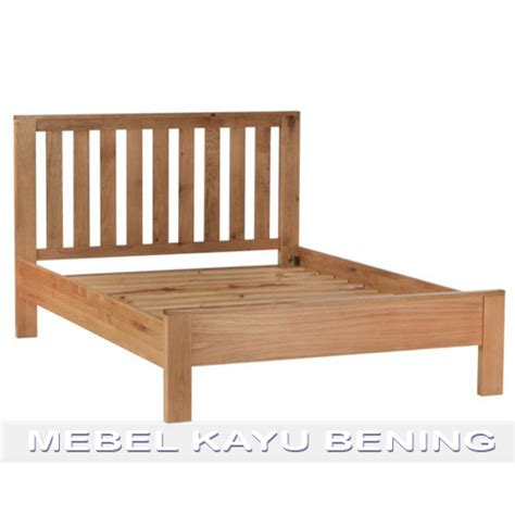 Tempat Tidur Kayu Ukuran Single tempat tidur kayu jati model minimalis jari jari