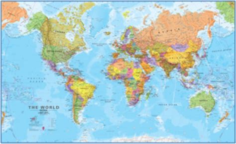 world s world megamap wall map maps com