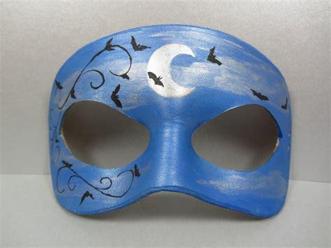 Moon Mask moon and bat masquerade mask by maskedzone on deviantart