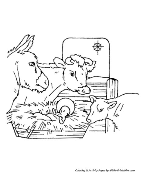 coloring pictures of christmas story baby jesus in manger coloring pages