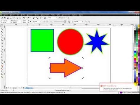 figuras geometricas una por una curso de coreldraw x5 dibujar figuras simples part 2