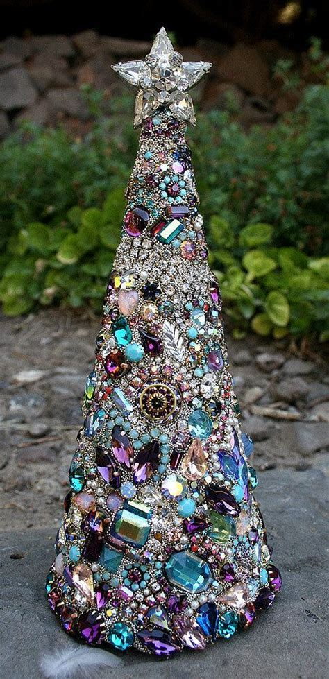 vintage rhinestone jewelry christmas tree christmas pinterest rhinestone jewelry vintage