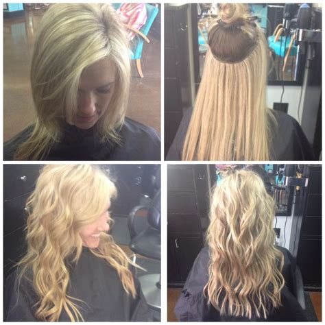 haircut before extensions natural beaded row hair extensions before after