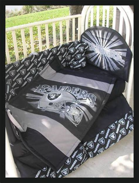 Oakland Raiders Comforter Set by Oakland Raiders Baby Crib Bedding