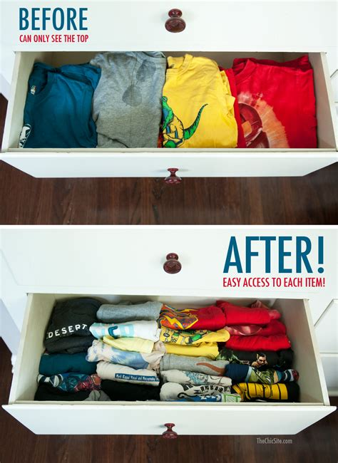 Folding Clothes In Drawers by Clothes Folding Tips The Chic Site