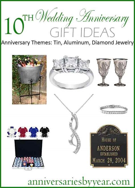 10 Year Anniversary Gift Ideas For by Tenth Anniversary 10th Wedding Anniversary Gift Ideas