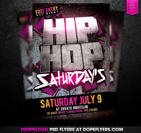 Free Hip Hop Flyer Templates Psd hip hop psd flyer by dopeflyers on deviantart