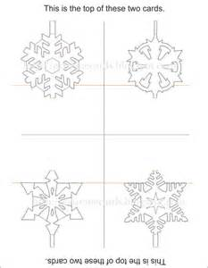 popup card template free cards and papercrafting easy pop up snowflake cards