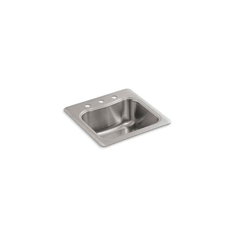 kohler staccato stainless steel kitchen sink kohler staccato drop in stainless steel 20 in 3 hole