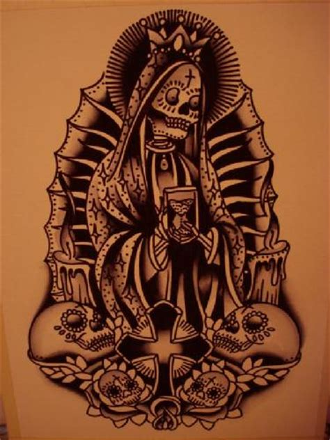 santa muerte tattoo design october 2012 designs