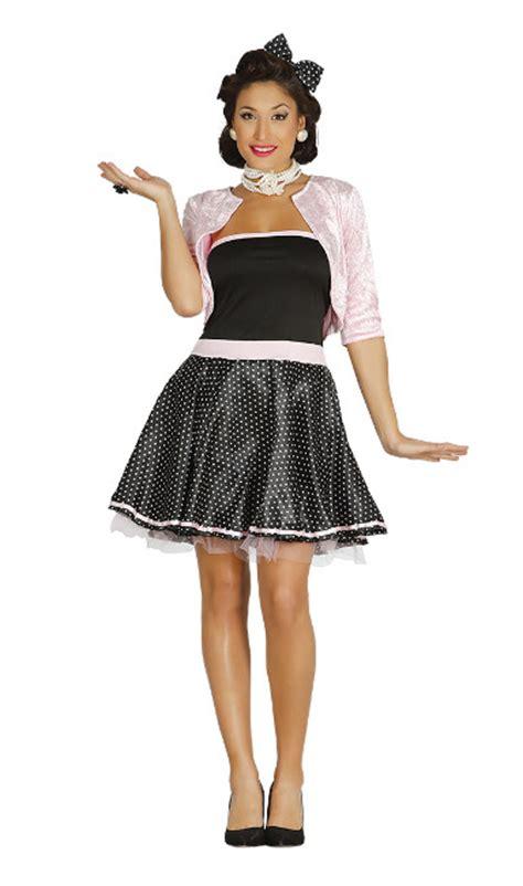 imagenes retro años 50 disfraz a 241 os 50 negro y rosa para mujer por 13 50