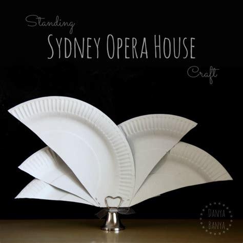 Craft Paper Australia - paper plate sydney opera house craft danya banya