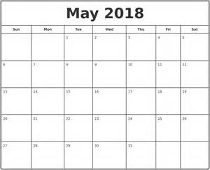 Blank Calendar Template 2018 January 2018 Blank Calendar Template