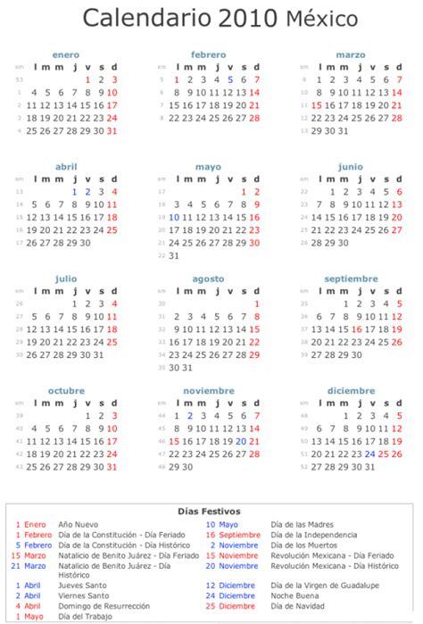 Calendario 2011 Mexico Calendario 2010 Mexico