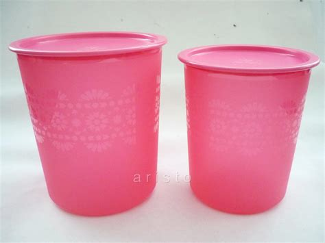 Tupperware Mosaic Canister Set new tupperware pink mosaic canister set 1 9l 2 8l