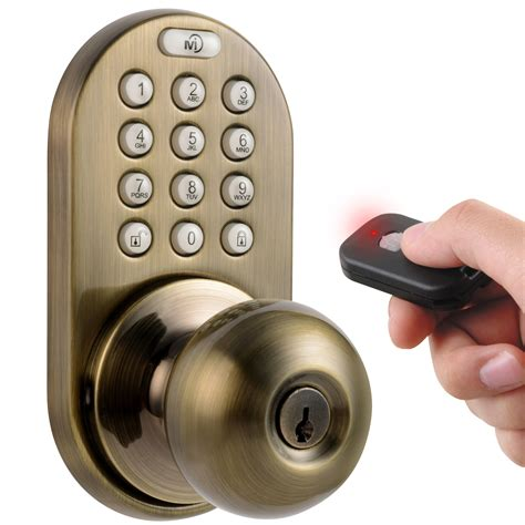 Keyless Interior Door Locks Milocks Keyless Electronic Door Knob With Remote Ebay