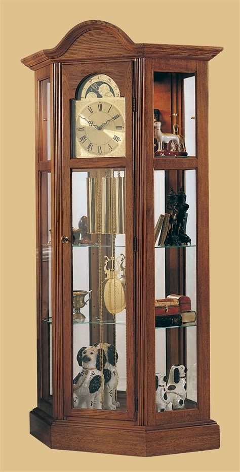 grandfather clock curio cabinet ridgeway clock co quot richardson ii quot grandfather clock