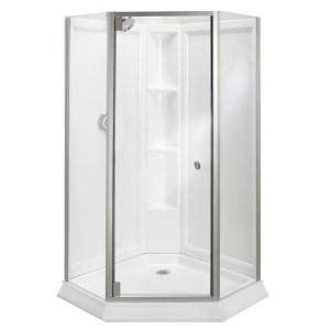 Shower Door Kits Sterling Solitaire Economy 42 In X 29 7 16 In X 78 1 4 In Neo Angle Corner Shower Kit With