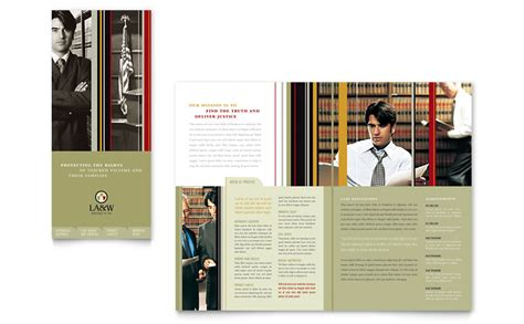 Firm Brochure Template by Lawyer Firm Tri Fold Brochure Template Word