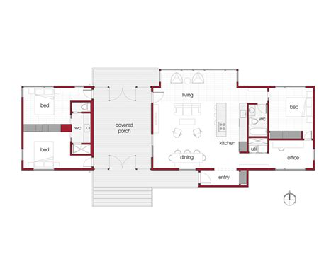 modern cottage floor plans dogtrot house plans images