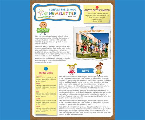 design a nursery newsletter template email friendly