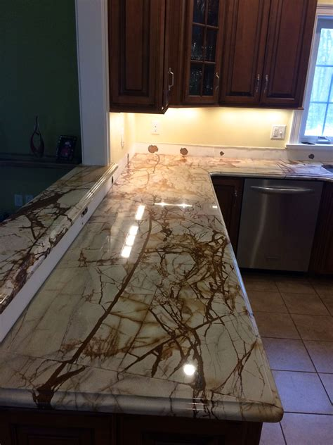 Just Countertops by Roma Imperiale Quartzite Countertop Just Installed In