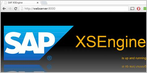 sap xs tutorial hana tutorials how to check sap hana xs engine status