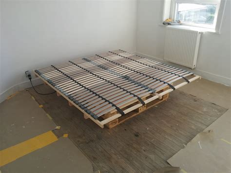 ikea bed slats hack lonset bed slats paired with pallets for a cheap diy bed