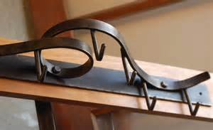 wall mounted pot rack coat rack contemporary forged steel