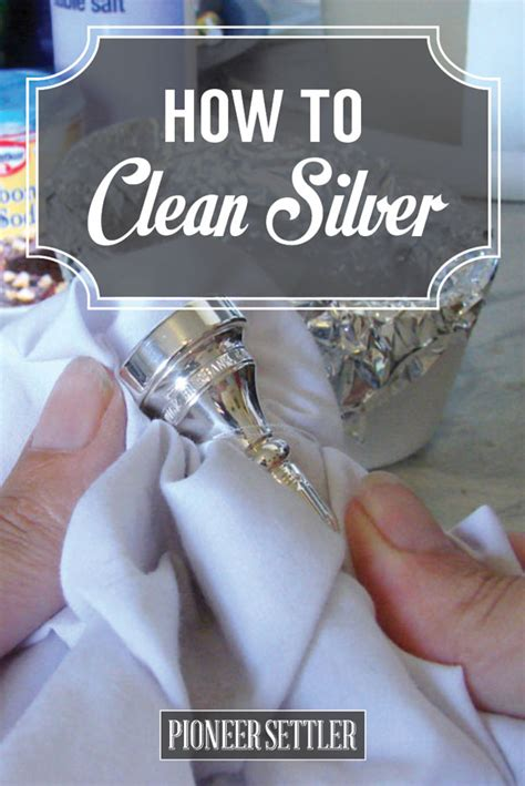 how to clean silver at home diy tutorial homesteading