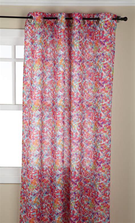 stylemaster curtains jackson splatter printed grommet curtain stylemaster