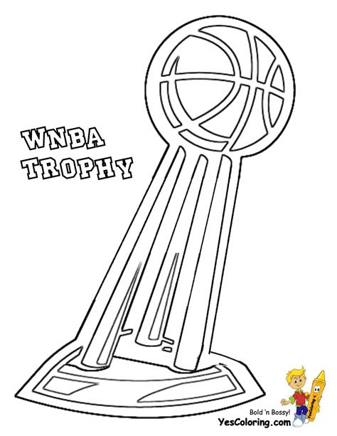 Basketball Trophy Coloring Pages | powerhouse girls basketball coloring wnba basketball
