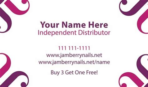 Jamberry Business Cards