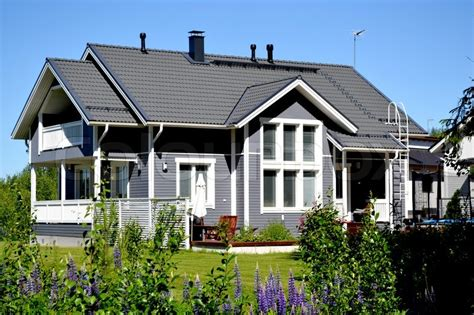 scandanavian homes scandinavian private house stock photo colourbox