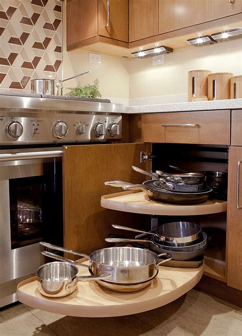 Corner Kitchen Furniture 30 Corner Drawers And Storage Solutions For The Modern Kitchen