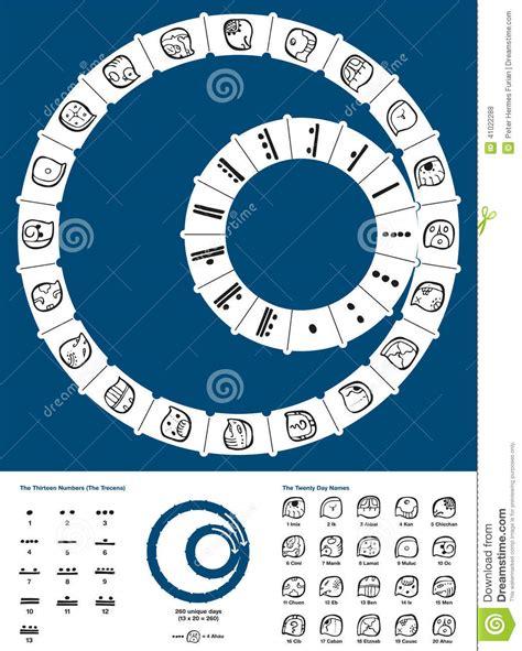 Calendario T Zolkin Tzolkin Calendar Ilustraci 243 N Vector Imagen