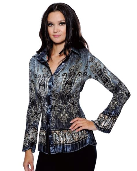 Rok Satin By Scarf true rock couture womens crinkle satin grey paisley