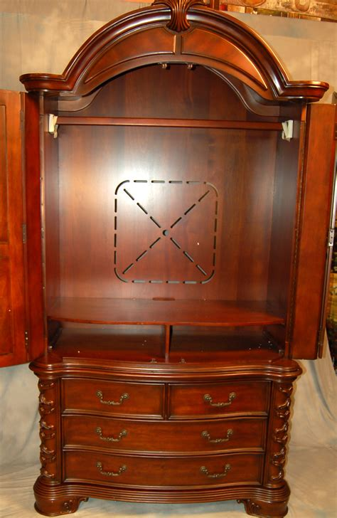 large tv armoire large mahogany tv armoire ebay