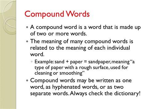 compound words and connotation denotation