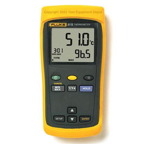 Thermometer Fluke fluke 51 52 53 54 series ii handheld thermometers