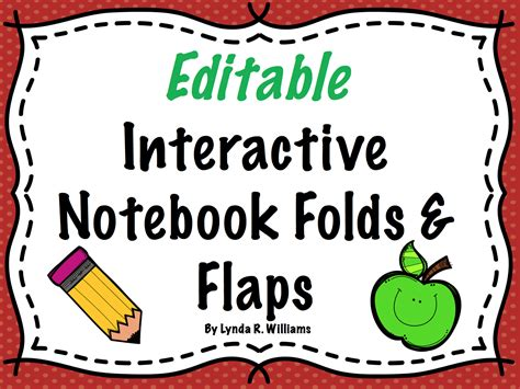 interactive notebook templates teaching science with lynda vocabulary for interactive