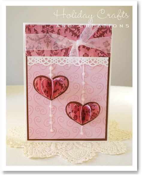 crafts and creations cards 3d hearts