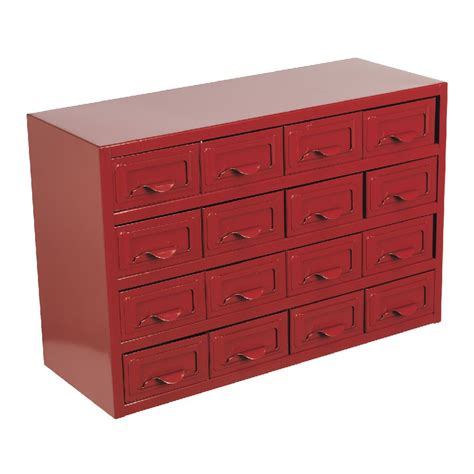 sealey metal cabinet box 16 drawer parts storage boxes