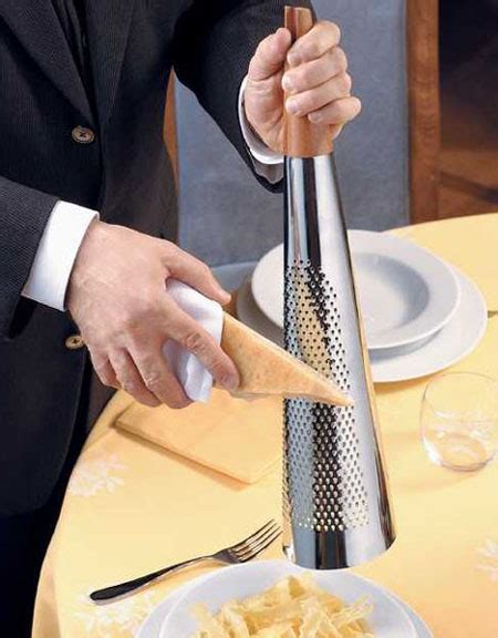 alessi todo giant hard cheese grater   stainless
