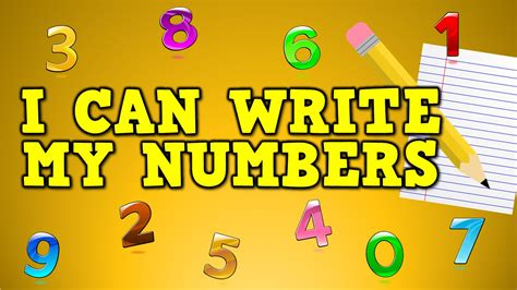 how can i my i can write my numbers writing numbers 0 9 for