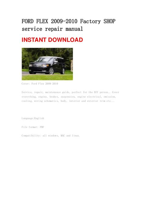 vehicle repair manual 2009 ford flex security system service manual pdf 2010 ford flex body repair manual pdf download 2010 ford flex owners