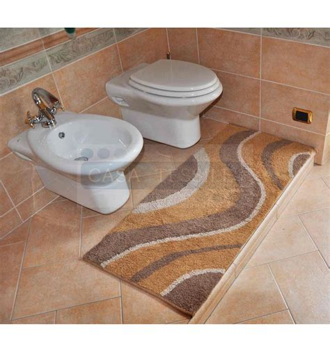 tappeti bagno onde tappeto bagno cm 55x120 casatessile