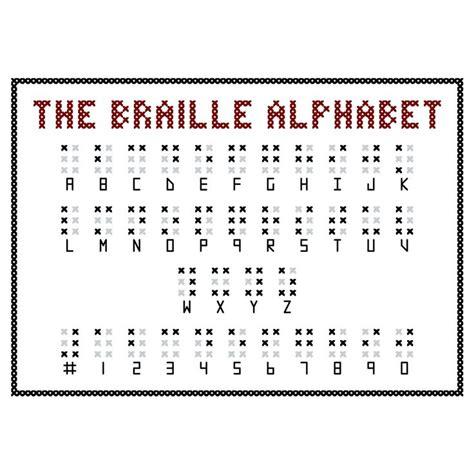 cross stitch pattern sign language braille alphabet cross stitch sler pattern cross