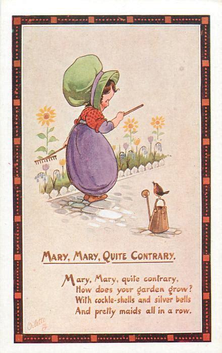 mary mary  contrary verse tuckdb postcards